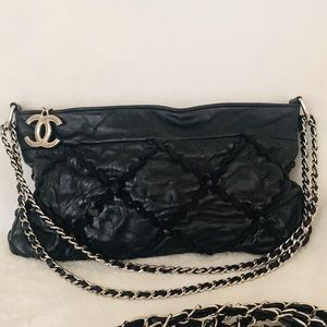 CHANEL Lambskin Quilted Wild Stitch Medallion Bag